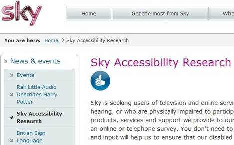 Sky Accessibility Research, BSkyB | Inclusive teaching and learning | Scoop.it