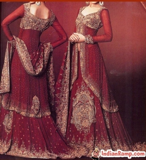 Bridal Lacha Dress Designs, Wedding Lachas, Designer Lehengas for Women   pooja choudhary   Scoop.it