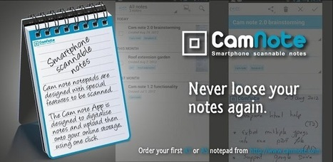 CamNote - scannable notes - Applications Android sur GooglePlay   Android Apps   Scoop.it