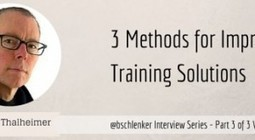The 3 Top Research Supported Methods to Improve Training – Will Thalheimer Video Part 3 | disruptive technolgies | Scoop.it