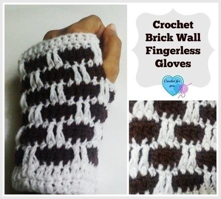 Brick Wall Crochet Fingerless Gloves | FREE Crochet Patterns | Scoop.it