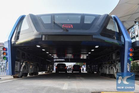 China começa a testar o TEB, o Abominável Ônibus Elevado | Heron | Scoop.it