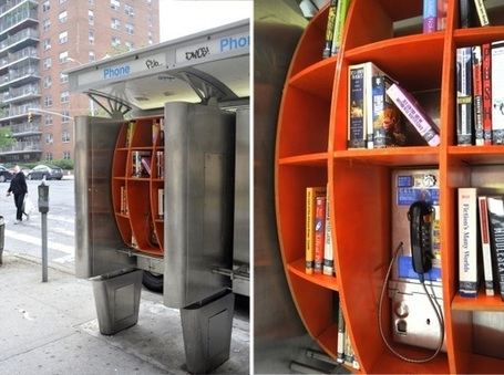How New York Pay Phones Became Guerrilla Libraries | techniques de lecture | Scoop.it