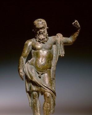 Bronze statue of old man This old figure has some... | L'actu culturelle | Scoop.it