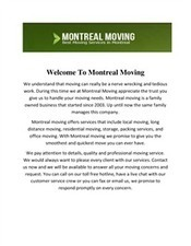 montreal-moving | Montreal Moving and Packing | Scoop.it