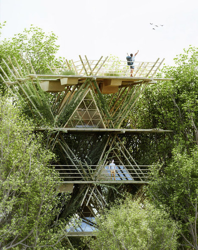 Penda designs flexible bamboo hotel to connect guests with nature | What's new in Industrial Design? | Scoop.it