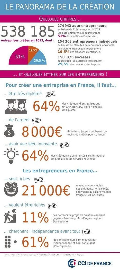 Quelques chiffres sur la création d'entreprise | Freelance & start-ups | Scoop.it