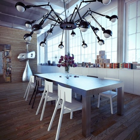 Interior design of an industrial loft | Air Circulation and Ceiling Fans | Scoop.it
