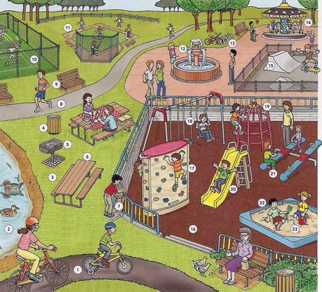 The park and the playground vocabulary PDF - Learning English vocabulary and grammar | Learning Basic English, to Advanced Over 700 On-Line Lessons and Exercises Free | Scoop.it