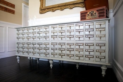 Library Chic:  Card Catalog Furniture | The Scoop on Libraries | Scoop.it