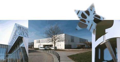 Applications Découpe au Jet d'Eau : Habillage d'une partie des façades de la Médiathèque La Clairière (35)   Découpe au jet d'eau   Scoop.it