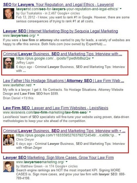 The Effect of G+ On Search for Lawyers | Attorney Rankings | Everything Marketing You Can Think Of | Scoop.it