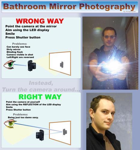 "Bathroom Mirror Photography | ""#Social World, Internet, Gadgets, Computers, CellPhones, Future, Space"" | Scoop.it"