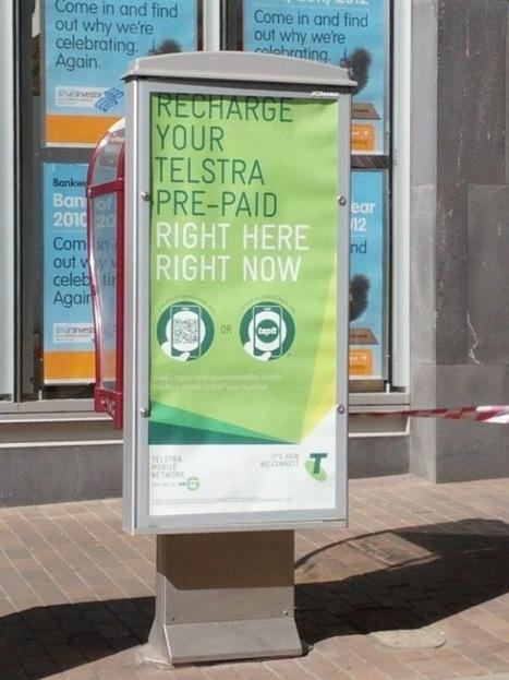 Australie : Telstra s'appuie sur le NFC pour permettre à ses clients de créditer leur téléphone depuis les posters de JCDecaux | Mobile & Magasins | Scoop.it