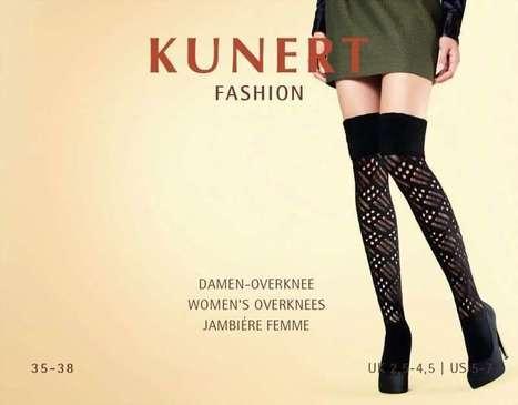 Winter over de knie sokken met ajourpatroon Society van Kunert, zwart, maat 39-42   pantys-boutique.nl   Pantys Kousen   Scoop.it