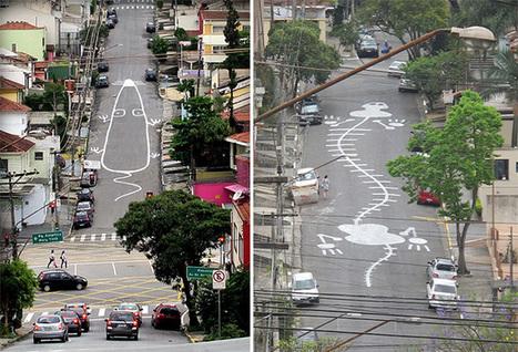 Graffiti Artist Tec Paints Crawling Art in the Streets of São Paulo | Best Urban Art | Scoop.it