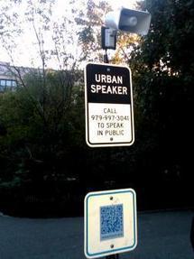 Urban Speaker: Mobile Technology Meets Public Art | MobileActive.org | DESARTSONNANTS - CRÉATION SONORE ET ENVIRONNEMENT - ENVIRONMENTAL SOUND ART - PAYSAGES ET ECOLOGIE SONORE | Scoop.it