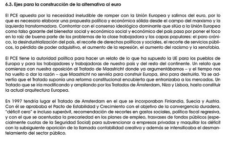 """El partido de Alberto Garzón """"apuesta por romper con la UE y salir del euro""""   Badarkablando   Scoop.it"""