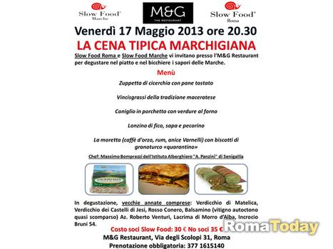 I sapori delle Marche, giornata slow food - Roma - RomaToday   Vini & tipicità della regione Marche   Scoop.it