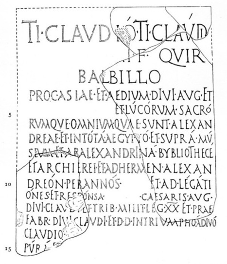 1st century inscription mentioning the library at Alexandria | Roma Antiqua | Scoop.it