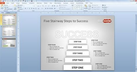 Five Ladder to Success PowerPoint Template | Free Business PowerPoint Templates | Scoop.it