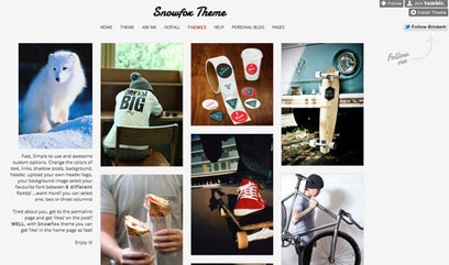 Top 10 Tumblr themes that look like Pinterest for awesome photo blogs : Shiny Shiny | Everything Pinterest | Scoop.it