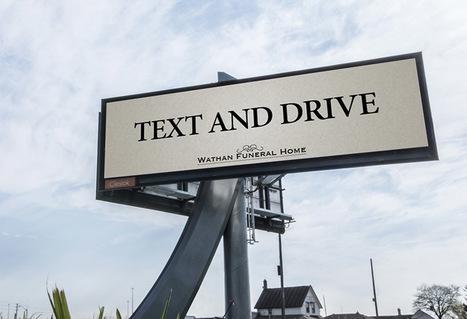 Una siniestra campaña publicitaria alerta del riesgo de chatear al volante | RRPP online | Scoop.it