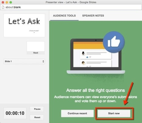 Google Slides: Ask Questions DURING a Presentation - Teacher Tech | Edtech PK-12 | Scoop.it