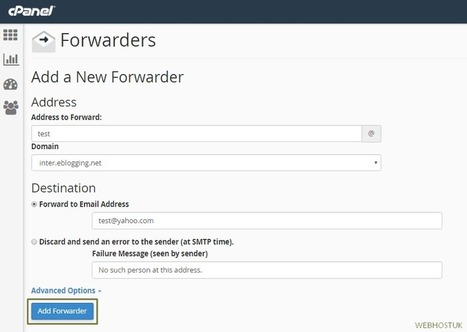How to Create an Email Forwarder in cPanel | UK Web Hosting | Scoop.it