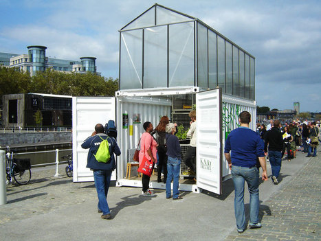 shipping container greenhouse - urban farm unit by damien chivialle | Vertical Farm - Food Factory | Scoop.it