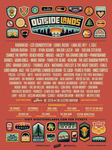 Outsidelands 2016 Lineup | Radiohead, LCD Soundsystem, Lionel Richie, Lana Del Rey, Duran Duran, + more! | Music | Scoop.it