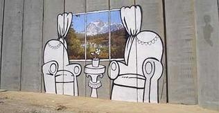 """Spray can prankster tackles Israel's security barrier"" | Banksy - Street Artist | Scoop.it"