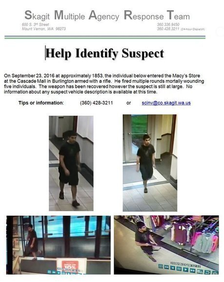 If anyone has information about the #CascadeMallShooting suspect, please call police 360-428-3211 @SkagitDEM | Criminal Justice in America | Scoop.it