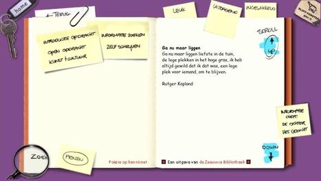 Openingspagina: zebi.nl poëzie met opdrachten   Poëzie Raayland havo 3 vwo 3   Scoop.it