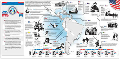 Half a century of U.S. interventions in Latin America, in one map   AP World History   Scoop.it