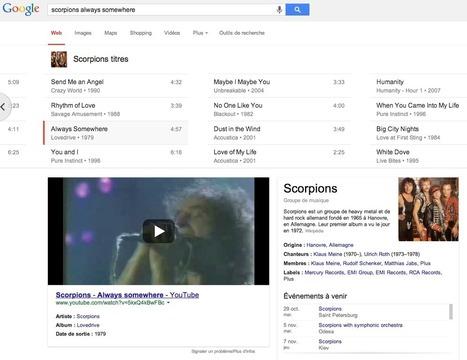 Google : la musique en première ligne dans les SERP - Actualité Abondance | La curation en communication web | Scoop.it