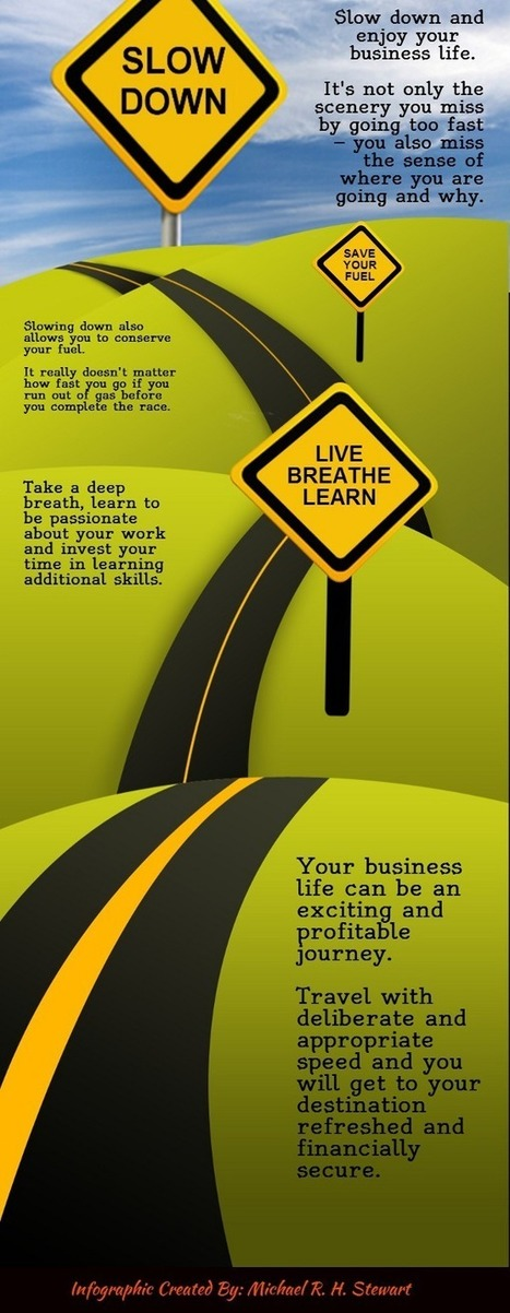 Slow Down and Enjoy Your Business Life (Infographic) : Jericho Technology, Inc.   Social Media   Scoop.it