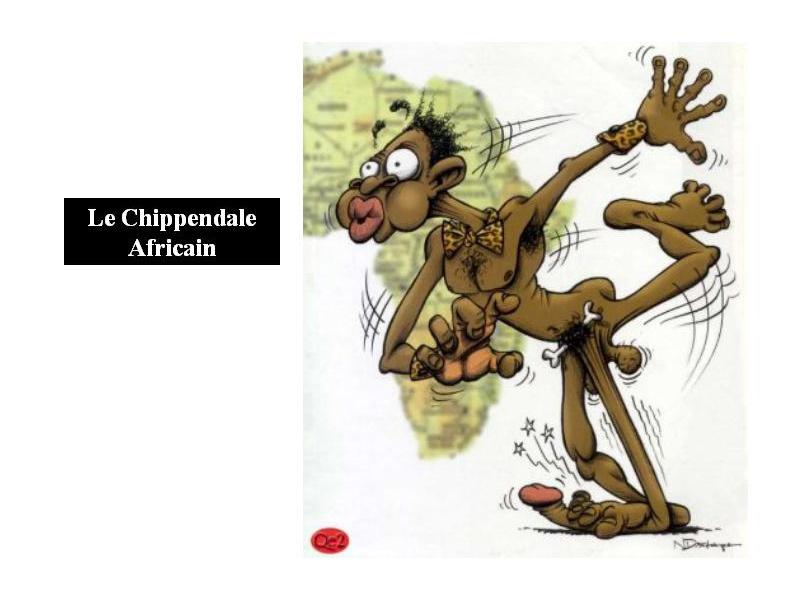 Dessin humoristique le chippendale africain - Dessin africaine ...