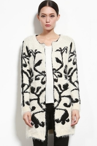 Retro Open Front Mohair Cardigan - OASAP.com | Street Fashion | Scoop.it