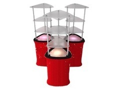 Triangle showcase counter | All Star Displays (Trade Show Stands Exhibition Displays) | Scoop.it