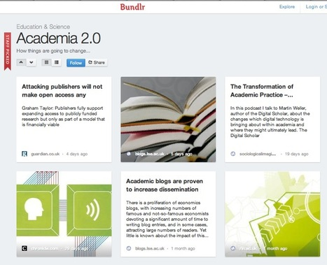 Collect Any Type of Web Content Into Visual Collections with the New Bundlr | PLE-PLN | Scoop.it