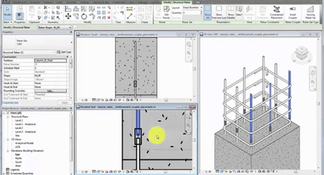 Apply Rebar Couplers in Revit 2017 to connect or cap rebar instances | BIM Forum | Scoop.it