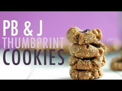 Peanut Butter & Jelly Thumbprint | HEALTHY DESSERT RECIPE! | Health And Fitness | Scoop.it