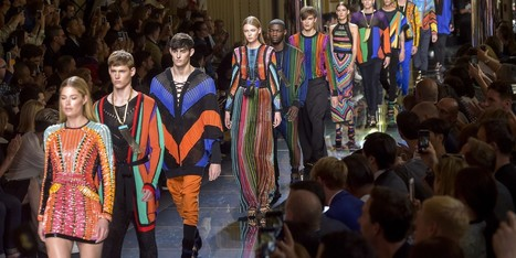 Fashion week : Olivier Rousteing ose Balmain en multicolore | Couture | Scoop.it