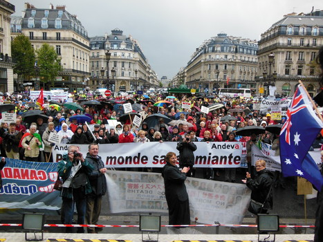 """Photos from Andeva's """"International Day for Asbestos Victims"""" Conference and """"A World without Asbestos"""" Demonstration in Paris, France.   Asbestos and Mesothelioma World News   Scoop.it"""
