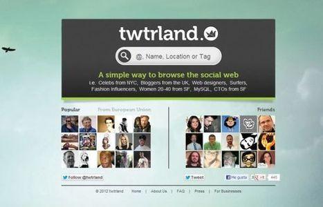 Twtrland – plataforma para el descubrimiento de personas y lugares en Twitter.- | Google+, Pinterest, Facebook, Twitter y mas ;) | Scoop.it