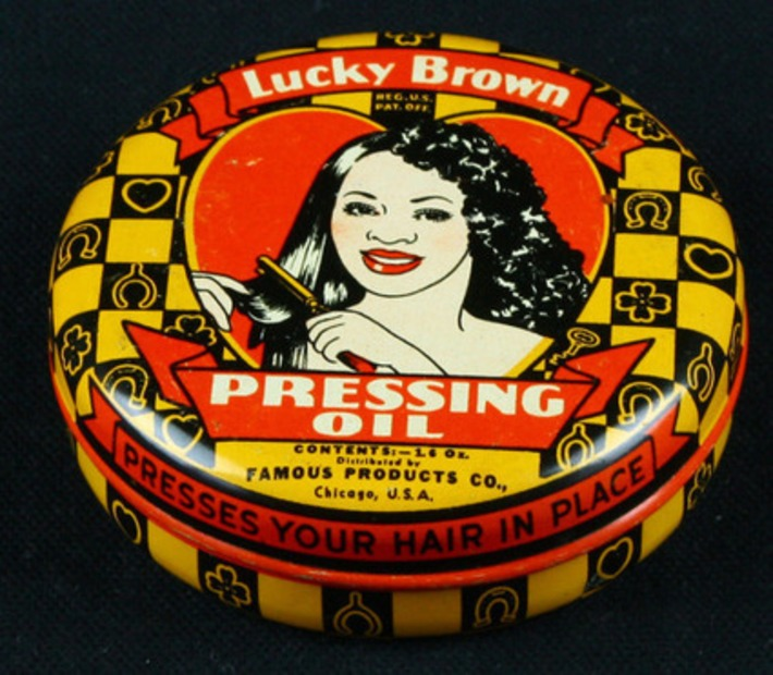 Lucky Brown, hair pressing oil; Black Americana. Circa 1930s | Herstory | Scoop.it