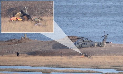 First pictures of Black Hawk down in Norfolk: Shocking photos of wreckage of US helicopter that crashed during routine low-level flying exercise over coast, leaving four servicemen dead | World news | Scoop.it
