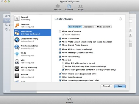What's New in Apple Configurator 1.4 for iOS 7? - ClassThink | Innovation in the Classroom | Scoop.it