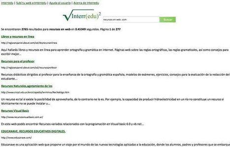 Interredu, buscador de contenidos educativos y material didáctico en español | Las TIC y la Educación | Scoop.it